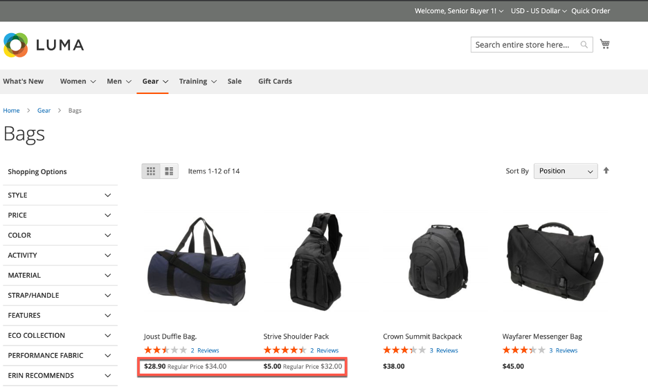 Custom Pricing with Shared Catalogs in Magento's B2B Edition